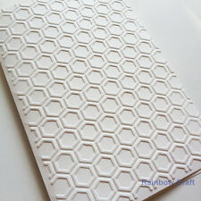 5 Blank Embossed Cards and Envelopes - Honey Comb Card Making Scrapbooking