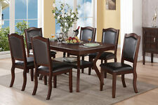 Imperial Design Dining Set 7Pc Espresso Modern Table Chair Dining Room Furniture