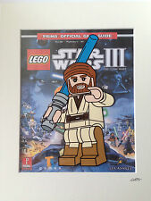 Lego - Star Wars - Obi Wan Kenobi - Hand Drawn & Hand Painted Cel