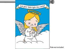 """PRAYING ANGEL GIRL FAITH RELIGIOUS GARDEN BANNER/FLAG 28""""X40"""" SLEEVED POLY"""