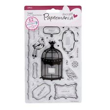 Tweet-Papermania / docrafts-transparente conjunto de sello
