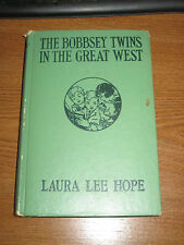 Vintage The Bobbsey Twins In The Great West by Laura Lee Hope 1920 Hardback