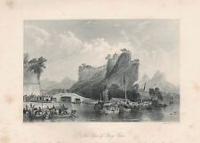 1843 ANTIQUE PRINT-ALLOM CHINA-THE PASS OF YANG CHOW