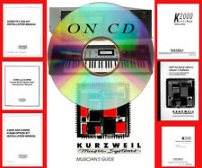 dvd video training Kurzweil K2000 k2000r + Musician Guide manual in P D F nt vhs