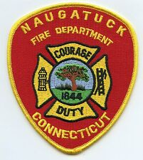 NAUGATUCK CONNECTICUT CT Courage Duty FIRE PATCH