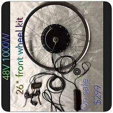 "Electric Bike48V 1000 W ,26"" Front Wheel Kit,Ebike Conversion Kits"