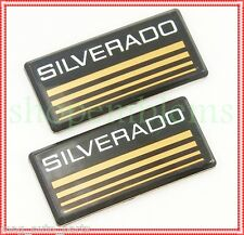 Chevy Silverado Cab emblem NEW 2pc nameplate badge logo roof pillar 1988 C/K 88
