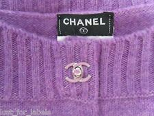 $3400 CHANEL 3 CC Turn-Lock Buttons 100% Cashmere Turnlock Dress size 38 NWT