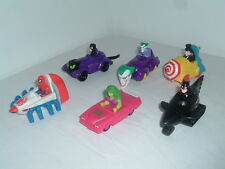 1990s MCDONALDS HAPPY MEAL TOYS DC MARVEL COMICS SPIDER-MAN BATMAN JOKER 1991 95