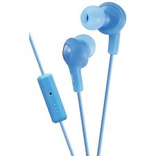 JVC Gumy Plus In-Ear Headphones with Remote - Mic, Blue 1 ea