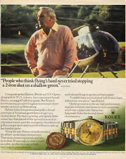 1990 vintage Ad  ROLEX Watches Oyster Perpetual w/ ARNOLD PALMER Golf 122915