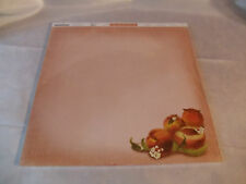 Scrap Book Paper-Peach theme-25 Pack,12x12size with lines on back for recipes