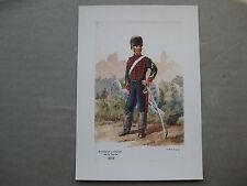 affiche cartonnée : Artillerie à cheval de la Garde 1868