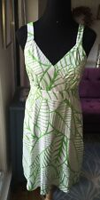 J McLaughlin Catalina Cloth Banana Leaf Print Dress Sz M