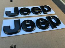 NEW 2PC JEEP BLACK 3M LETTERS HOOD I TRUNK TAILGATE I FENDER EMBLEM BADGE LOGO