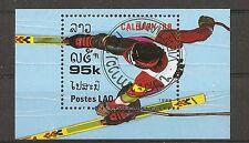 Laos SC # 848 Calgary'88. Precancel.  MNH