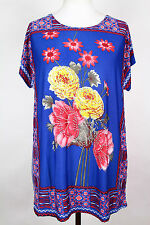NEW WOMEN  TUNIC  size  16/18 TOP SHORT SLEEVE SEQUINS  BLOUSE LADIES  g  2995