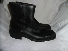 ALDO MEN'S BLACK LEATHER ZIP UP ANKLE BOOT SIZE UK 7 EU 41 VGC