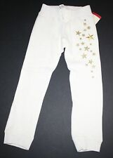 New OshKosh Ivory Knit Fleece Pants Size 5 Kid NWT Active Pants Sparkle Stars