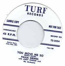PAULA GRIMES   YOU MOVE ME SO/ IT'S HAPPENIN BABY   TURF Re-Iss/Re-Pro  NORTHERN