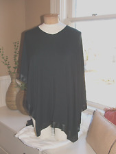 Comfy USA black poncho satin trim size XS/S/M oversized.