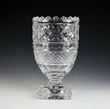 "Waterford Crystal footed Centerpiece Vase 11"" sawtooth rim, square base,"