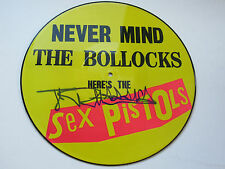 Sex Pistols Signed Johnny Rotten Lydon Never Mind The Bollocks Picture Disc LOOK