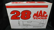 "# 28 MAC TOOLS TRAVEL AIR  DIECAST AIRPLANE BANK "" MINT IN BOX"""