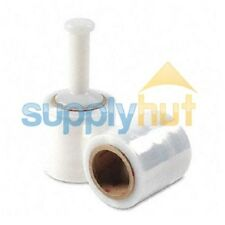 "5"" in. x 1000FT 80 Gauge 4 Rolls Stretch Shrink Film Hand Wrap + Handle"