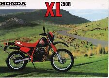 Mid 1980s HONDA XL250R Dirt Bike 2p Japanese Brochure in English