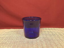 "Cristal d""Arques Crystal Working Collection Cobalt Pattern 3 3/4"" Flat Tumbler"