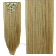 Real Thick Clip In on Hair Extensions Full Head Hair Extentions Human Made hn19