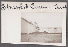 VINTAGE 1896 PHOTOGRAPH STRATFORD CONNECTICUT VICTORIAN SHEDS LAKE OLD PHOTO