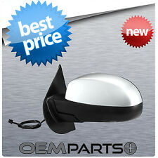 REPLACEMENT DRIVER'S LEFT SIDE VIEW MIRROR COMPLETE POWER HEATED CHROME FOLDING