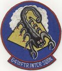 Early 1950s US Air Force 64th Fighter-Interceptor Squadron Patch