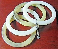 Mexx Designer Stacking Bangle Bracelets 4  Tan Brown Faux  Tortoise Shell