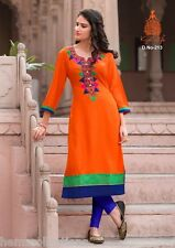 XXL Beautiful Heavy Rayon Cotton Embroidered Kurti / Kurta / Tunic