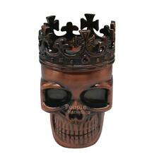 King Skull Smoke Grinder Herb Metal 3 Layered Hand Crank Herbal Tobacco Grinder