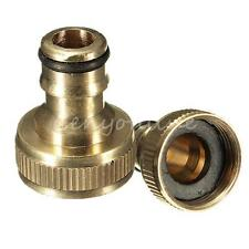 "3/4"" Male Brass Threaded Hose Tap Adaptor Water Pipe Connector Tube Fitting"