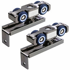 Soft-close 4 Hang Wheel Roller Rail Pulley Hardware For Hanging Sliding Door