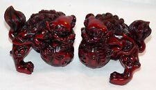 NEW PAIR (2) CHINESE ORIENTAL FOO DOGS IMPERIAL LIONS FUNG SHUI STATUE FIGURE 3""