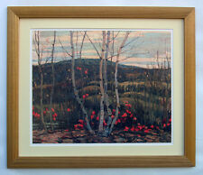 "A.Y. Jackson, Group of Seven  "" Maple and Birches"" Large Print in Gold Frame"