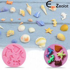 DIY 3D Sea World Dolphin Fish Silicone Cake Molds Fondant Chocolate Mould Baking