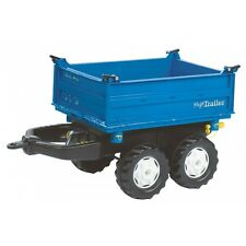 Rolly Toys New Holland Mega-Trailer Anhänger Kipper Dreiseitenkipper blau