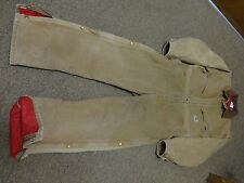VTG CARHARTT OVERALLS PANTS INSULATED 38SHORT WESTERN CARPENTER WORK X01BRN USA