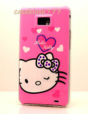 for samsung galaxy s2 sii S II i9100 and i777  case pink w/ heart