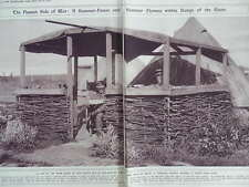 1917 SUMMERHOUSE GARDEN AT THE FRONT CANADIAN OFFICERS WWI WW1 DOUBLE PAGE