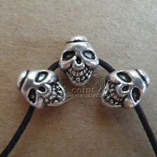 P151 20pc Tibetan Silver 2-Sided skull Spacer Bead retro Accessories Wholesale