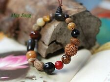 Natural 18 Bodhi Seed Beads Buddhist Prayer Bead Mala Bracelet