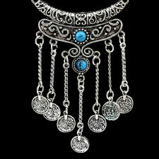 Women's Magic Vintage Tassels Long Chain Pendant Coin Sweater Necklace Jewerly